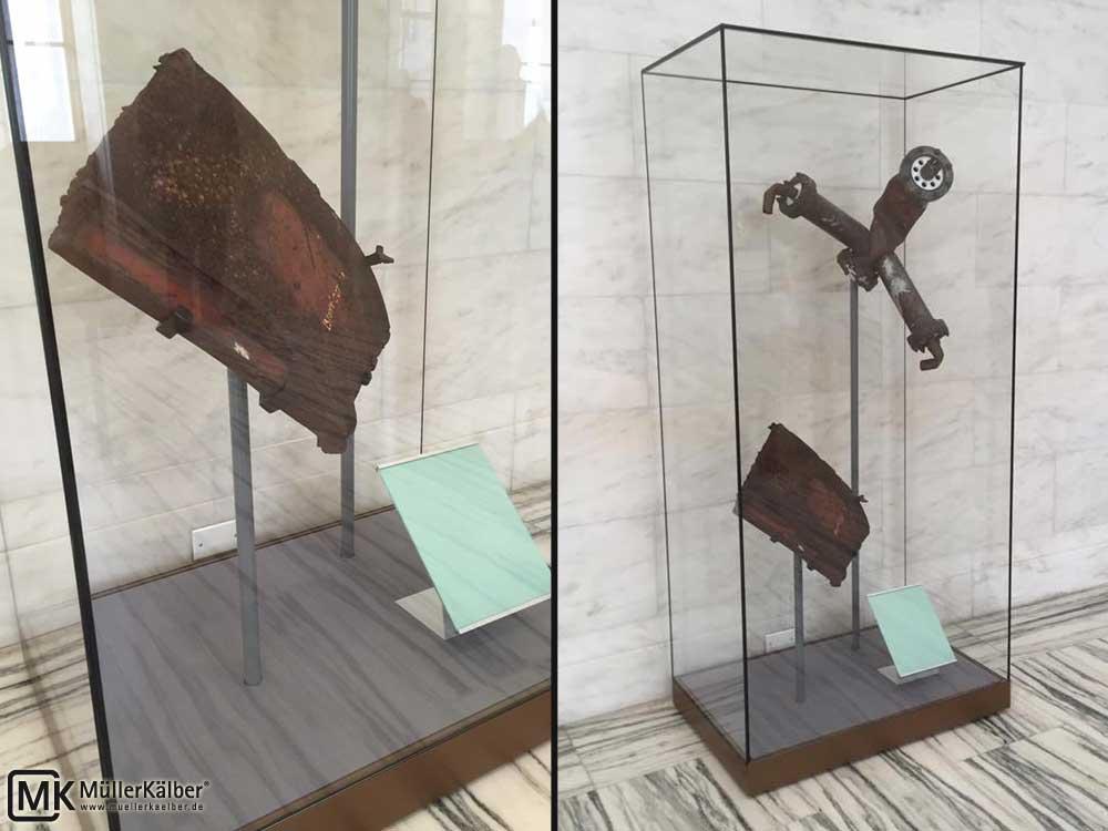 Museumsvitrine Ganzglas