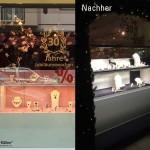 Schaufensterbeleuchtung bei Juwelieren mit abgehängten LED-Leuchten