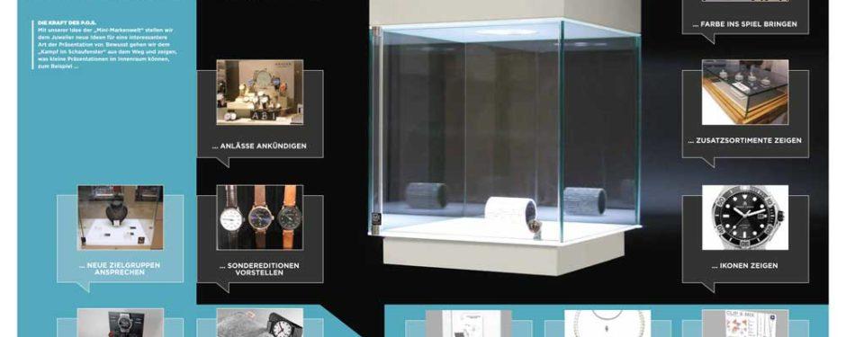 Artikel Blickpunkt Juwelier Vitrinen-Zauber Mini-Markenwelt, Aufsatzvitrine, Glasaufsatz