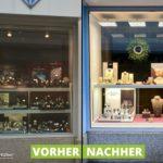 Neue Schaufenstereinrichtung und Beleuchtung bei Juwelier Horz in Speyer
