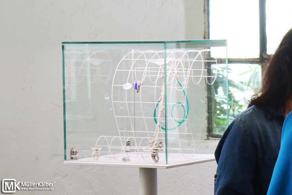 Aufsatzvitrine Vitrinenaufsatz MK 640 Ganzglasaufsatz