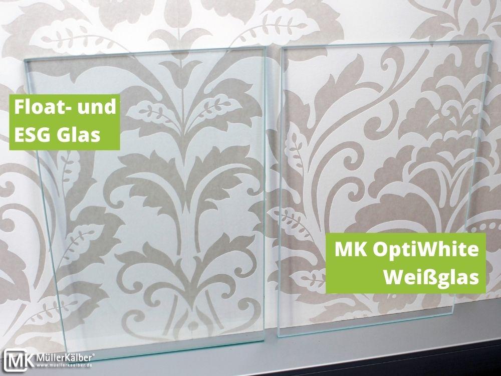 MK OptiWhite und ESG-Glas im Vergleich
