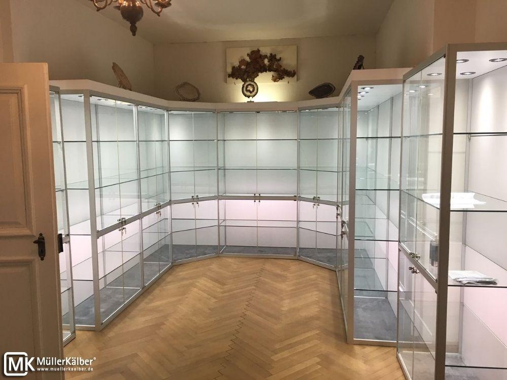 Sammlervitrinen-Anlage bei einem privaten Sammler